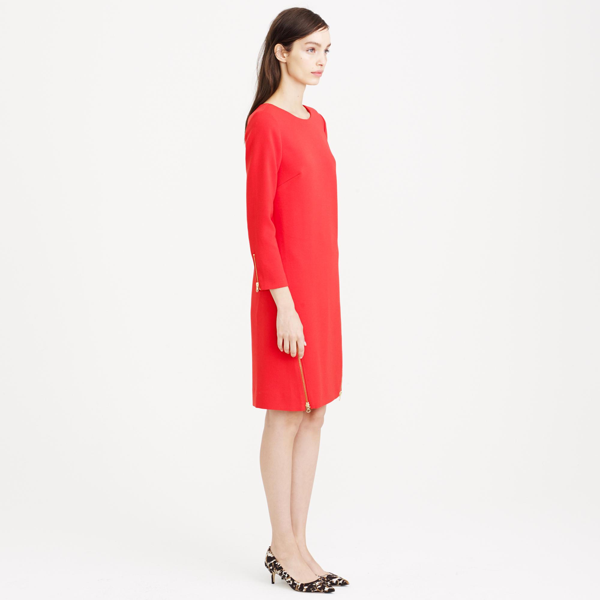 Tall Double Zip Shift Dress