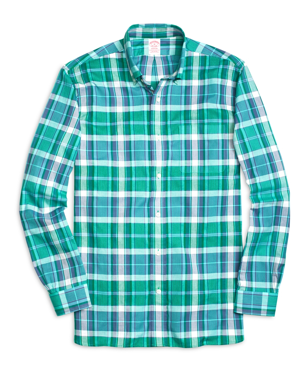 Brooks brothers madison fit madras short sleeve sport for Brooks brothers sports shirts