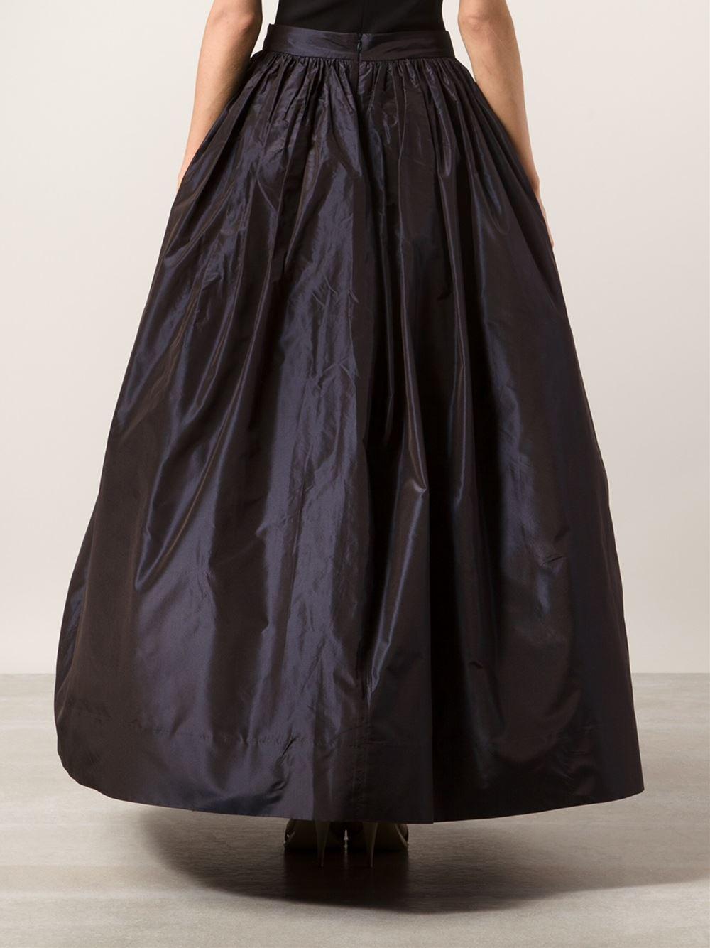 Martin Grant Long Taffeta Skirt in Blue - Lyst