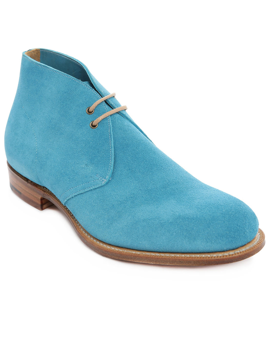 Turquoise Blue Suede Shoes