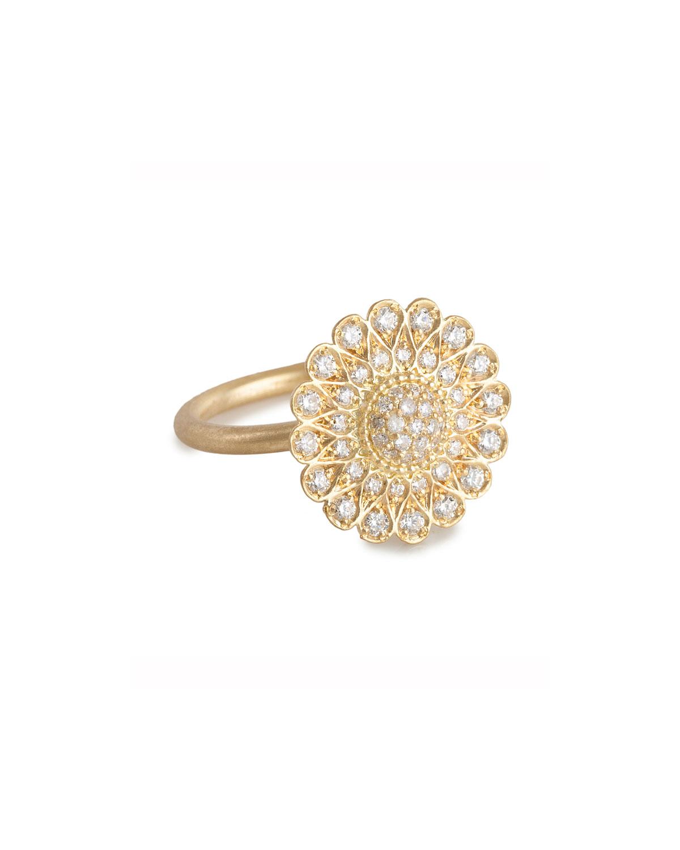 4bdfe24a3 Jamie Wolf Diamond Sunflower Ring in Metallic - Lyst