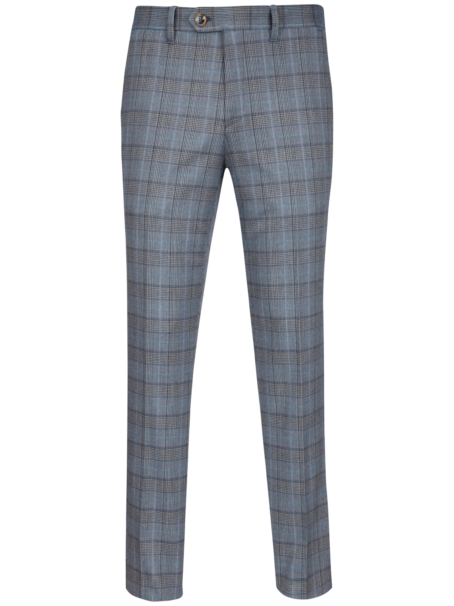 Ted Baker Piitro Tonal Check Trousers in Blue for Men