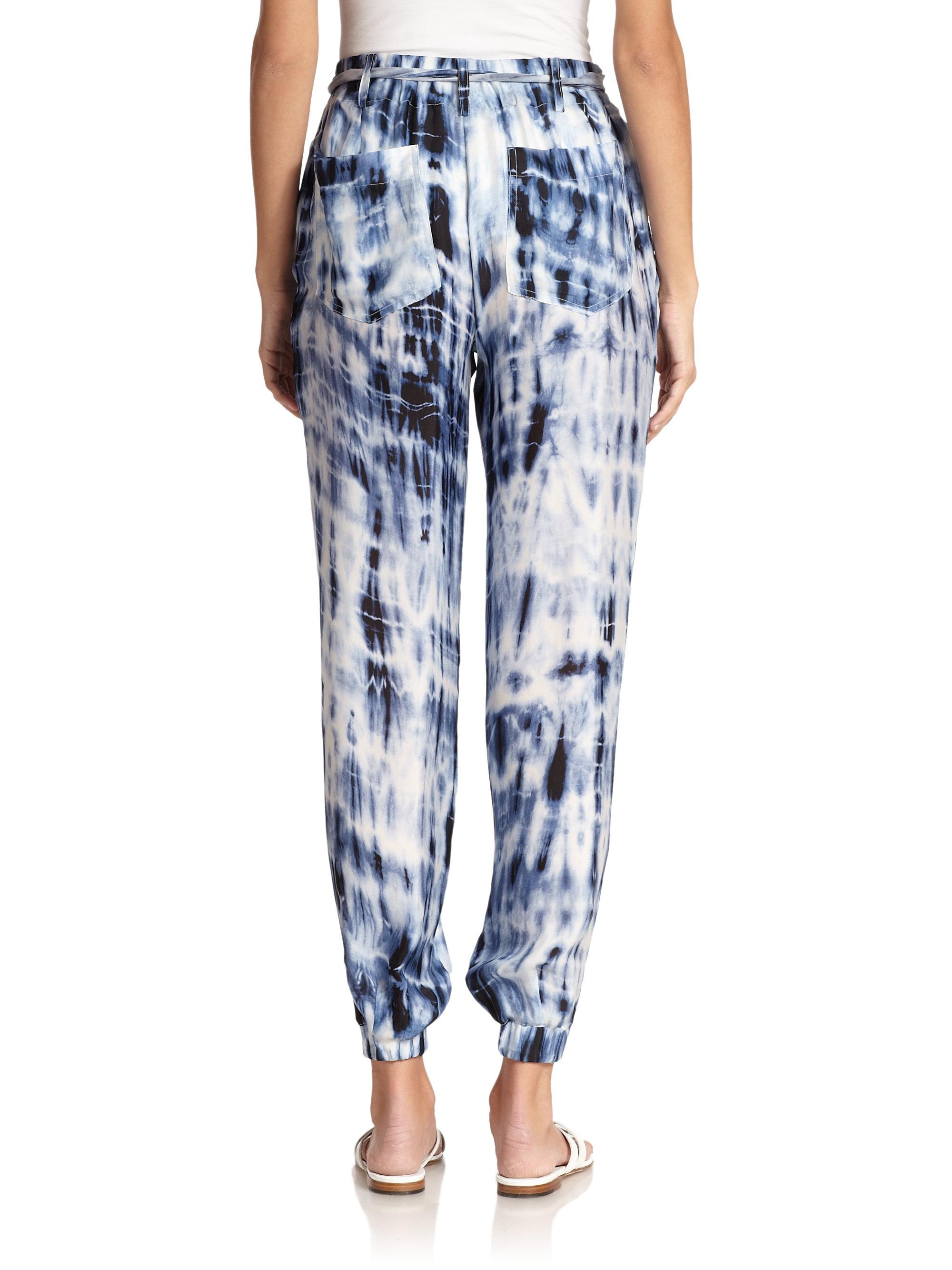ralph lauren black label adria tie dye pants in blue lyst. Black Bedroom Furniture Sets. Home Design Ideas