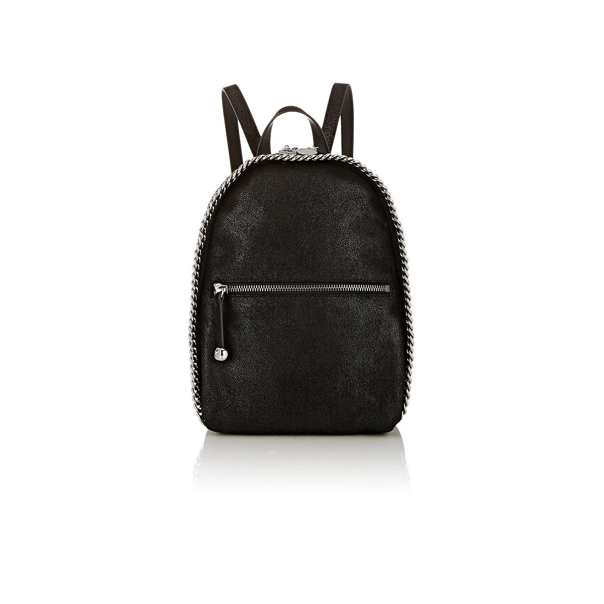 stella mccartney women 39 s falabella shaggy deer mini rucksack in black lyst. Black Bedroom Furniture Sets. Home Design Ideas