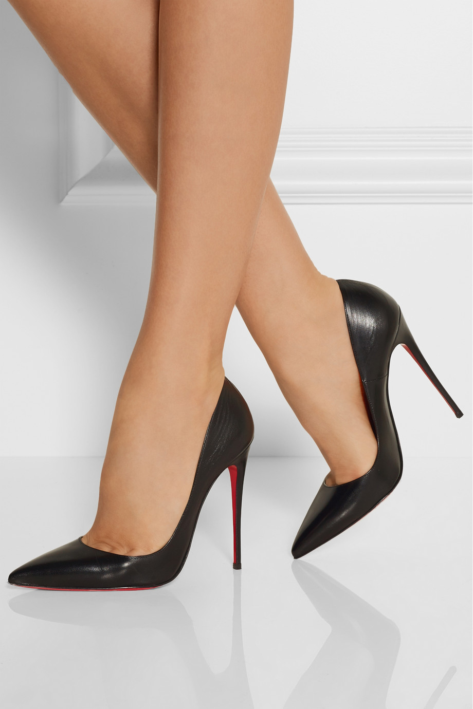 christian louboutin so kate 120 leather pumps in black lyst. Black Bedroom Furniture Sets. Home Design Ideas