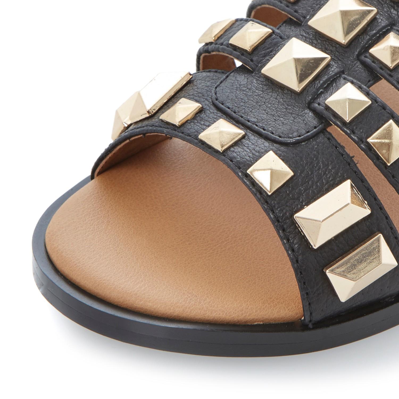 Steve Madden Malta Gladiator Sandals In Metallic Lyst