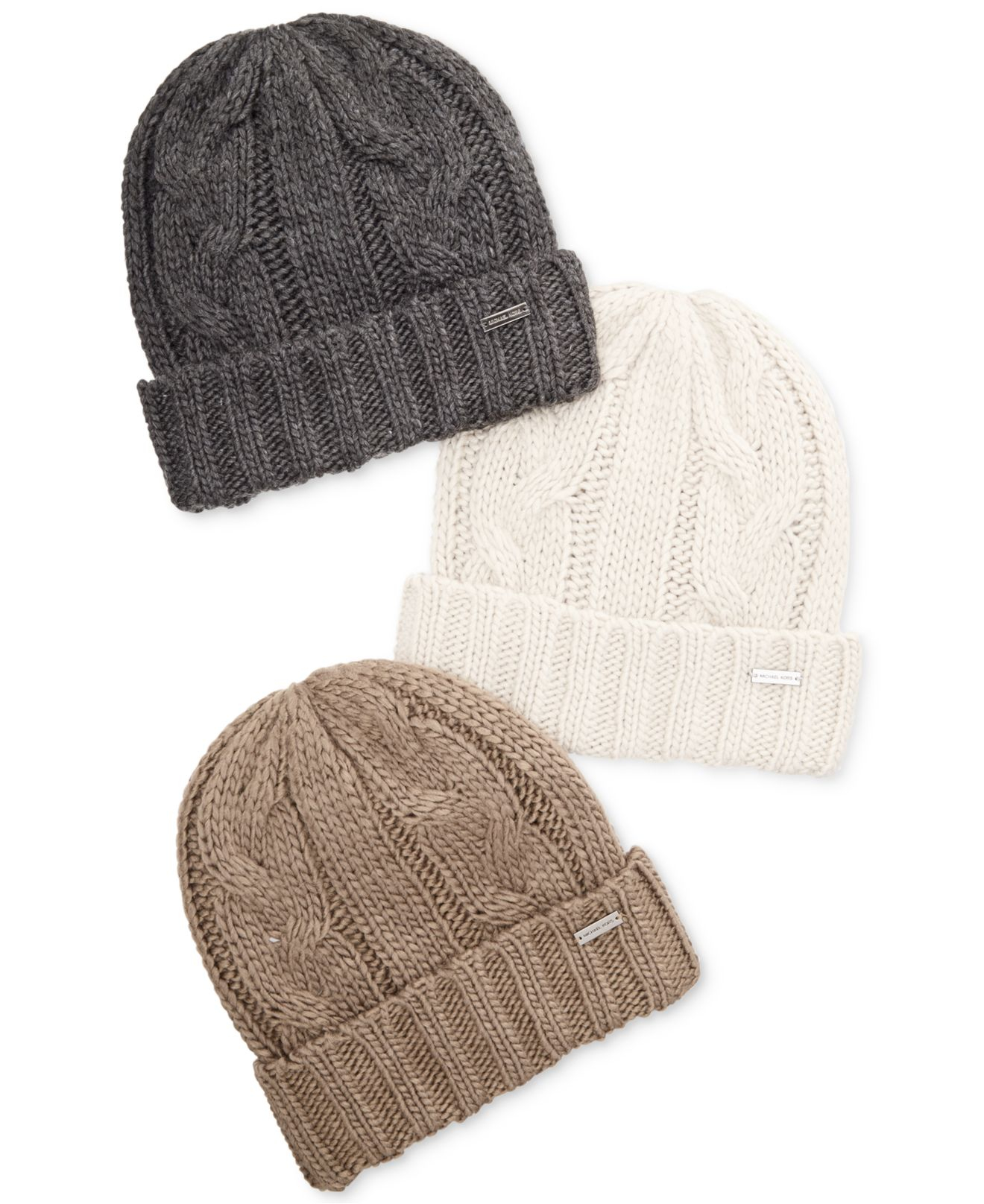 Lyst - Michael Kors Hand-Knit Cable Cuff Hat in Brown for Men 21ea44e79b4