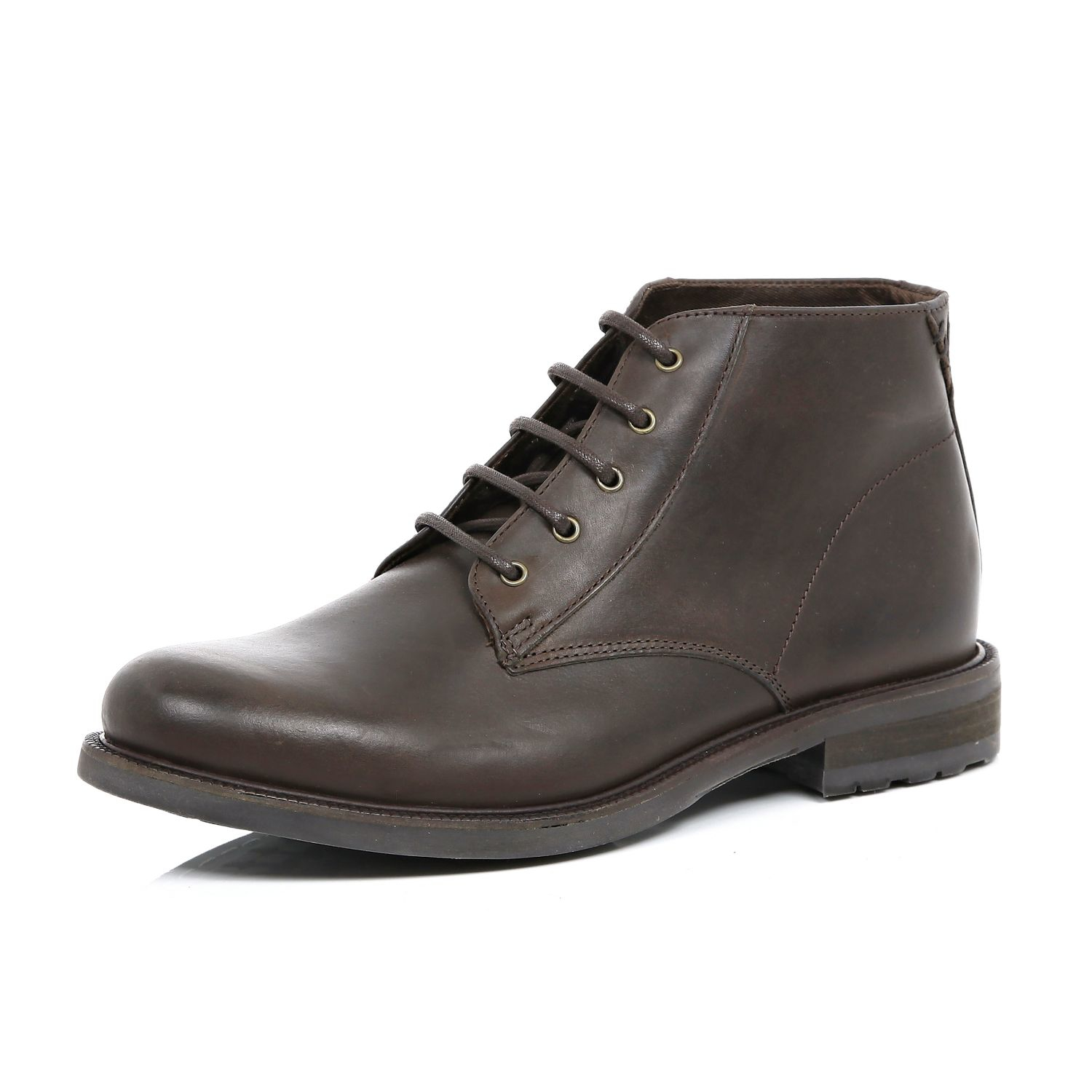 river island brown leather chukka boots in brown for
