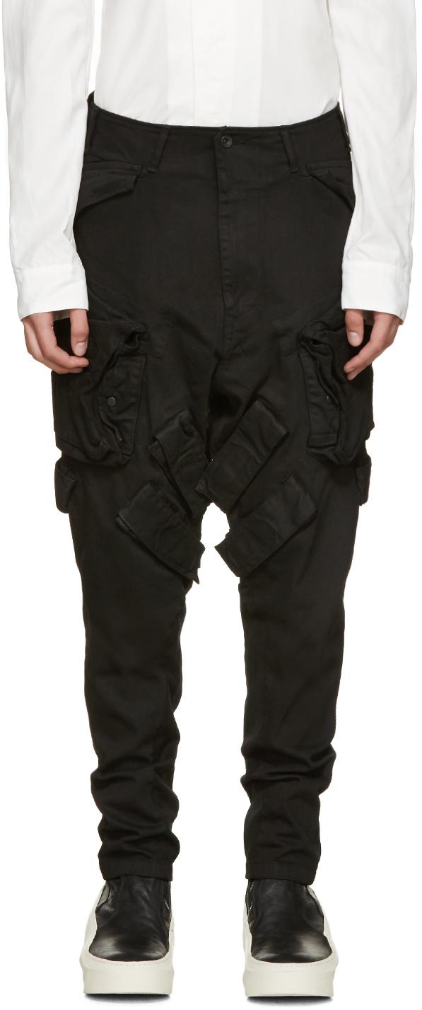 Julius Black Denim Cargo Pants in Black for Men   Lyst