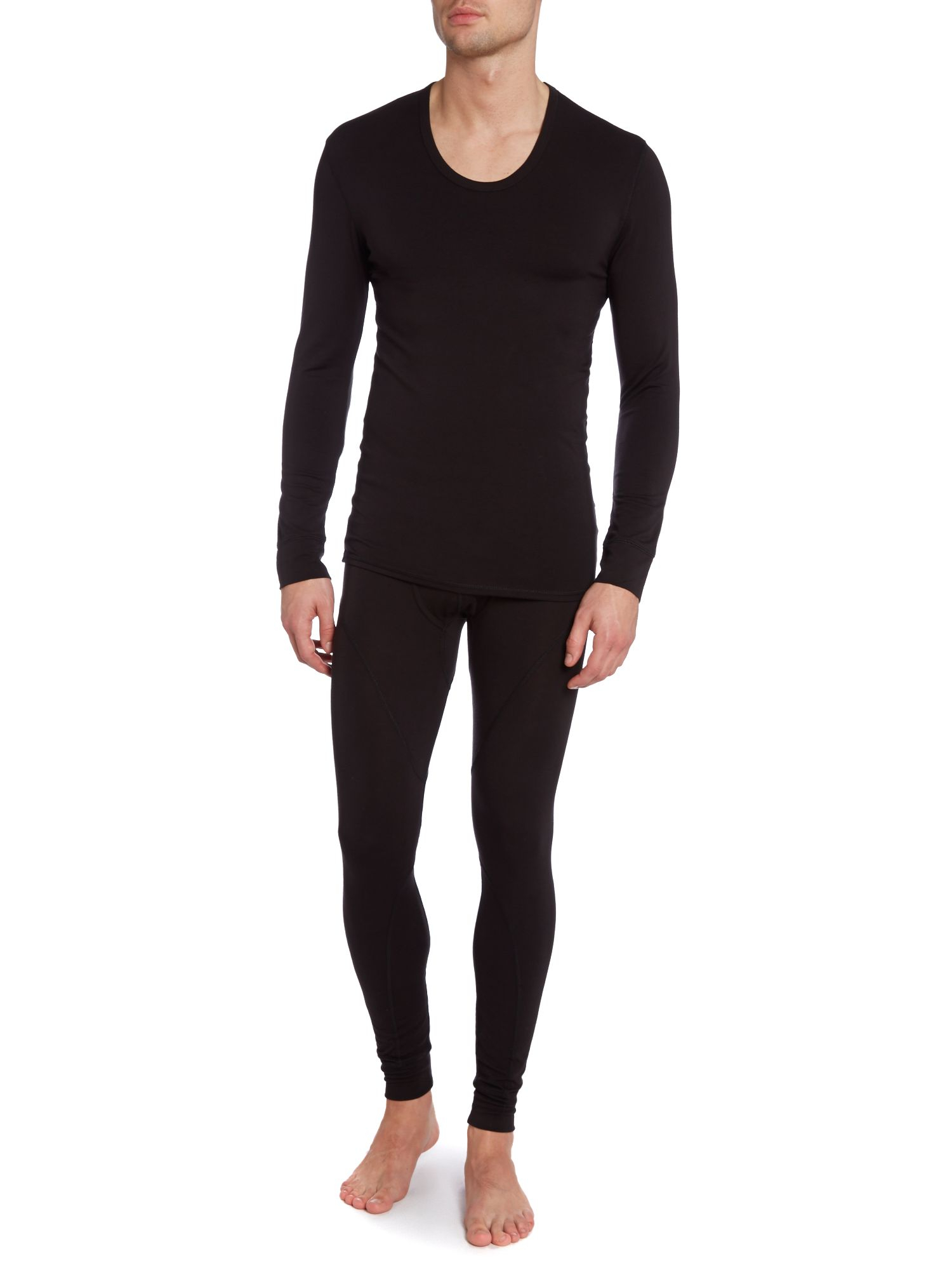 Lyst calvin klein thermal tshirt in black for men for Mens black thermal t shirts