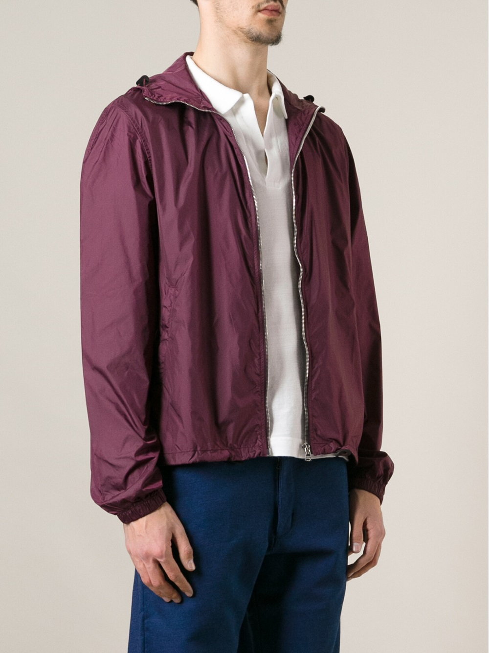Lyst Orlebar Brown Collins Bomber Jacket In Purple For Men