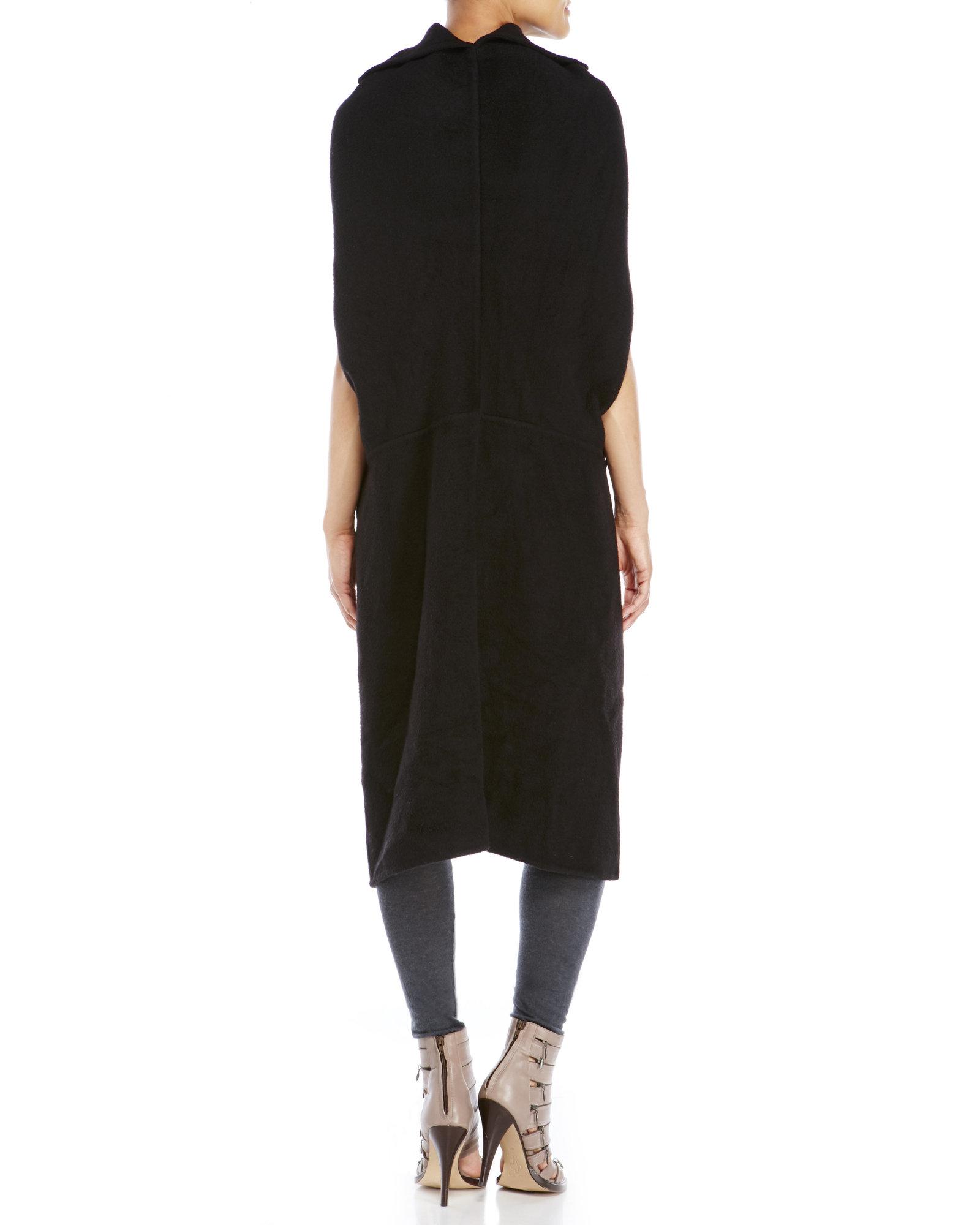 Rick Owens Black Cashmere Shroud Sweater