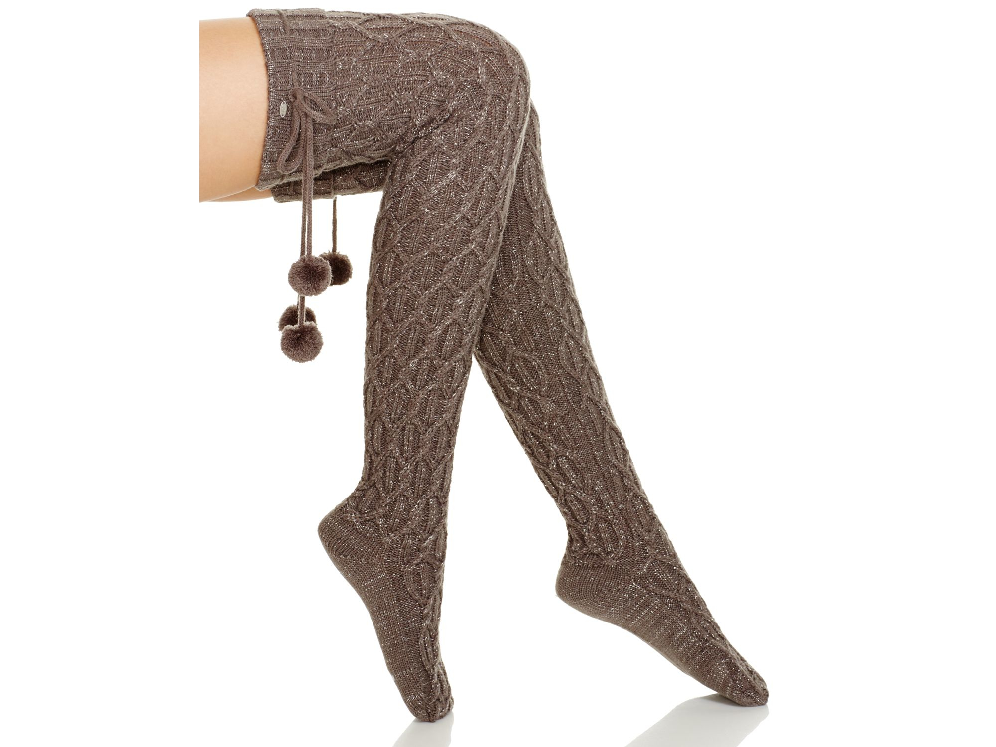 Ugg Ugg 174 Australia Classic Cable Knit Knee High Socks In