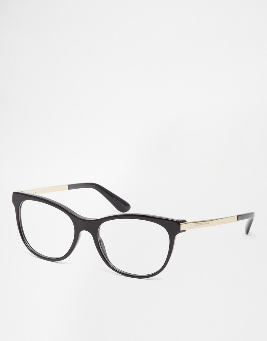 Dolce And Gabbana White Eyeglass Frames : Dolce & gabbana D Frame Glasses in Black Lyst