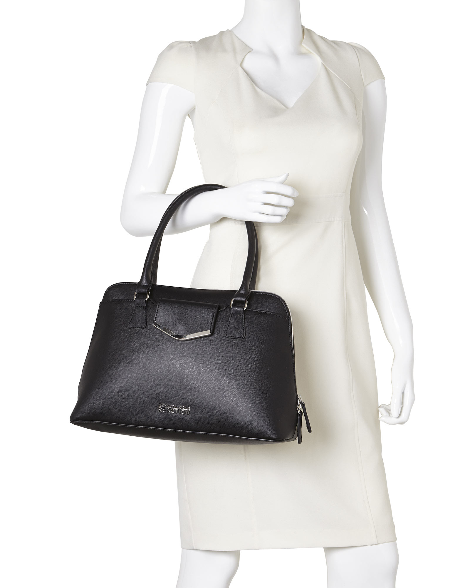 Kenneth Cole Reaction Black Aussie Satchel In Black Lyst
