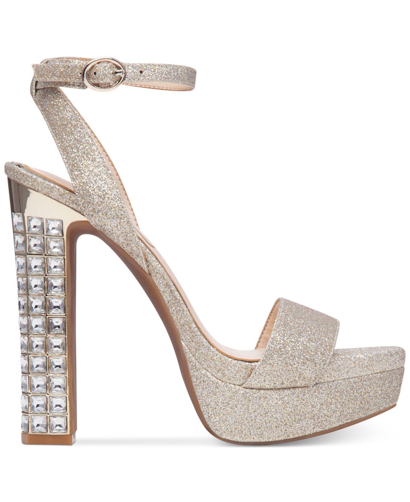 6c1ee622570de7 Lyst - Jessica Simpson Banda Embellished Platform Dress Sandals in ...