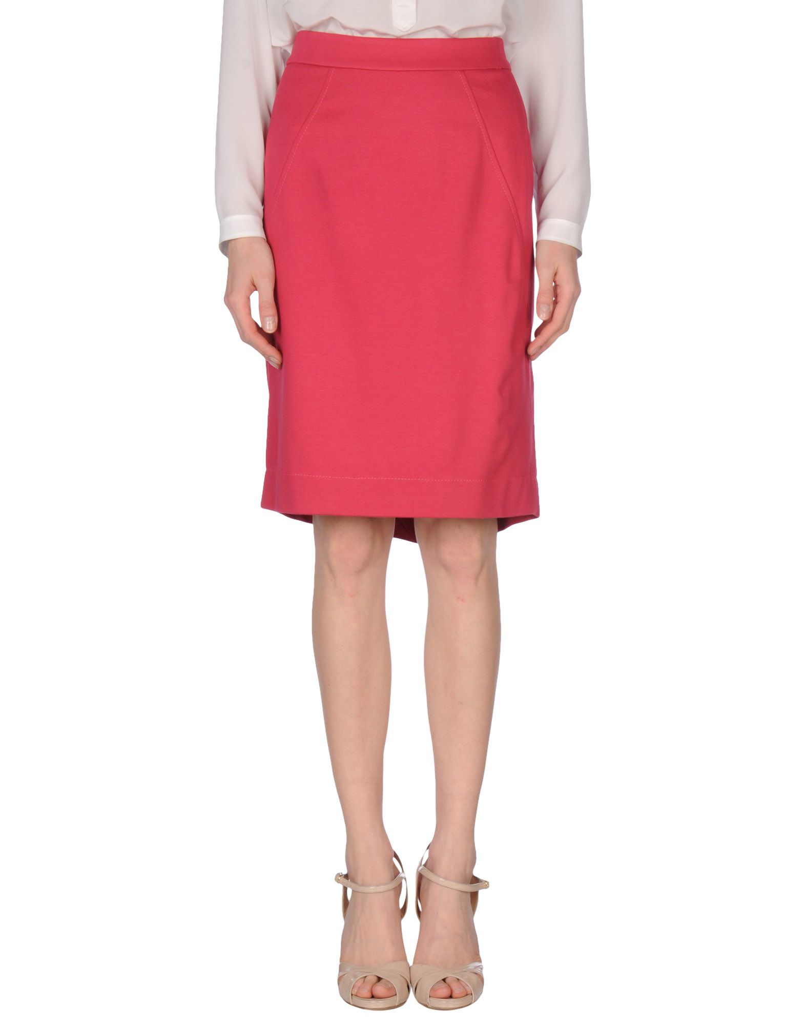 boutique moschino knee length skirt in coral save
