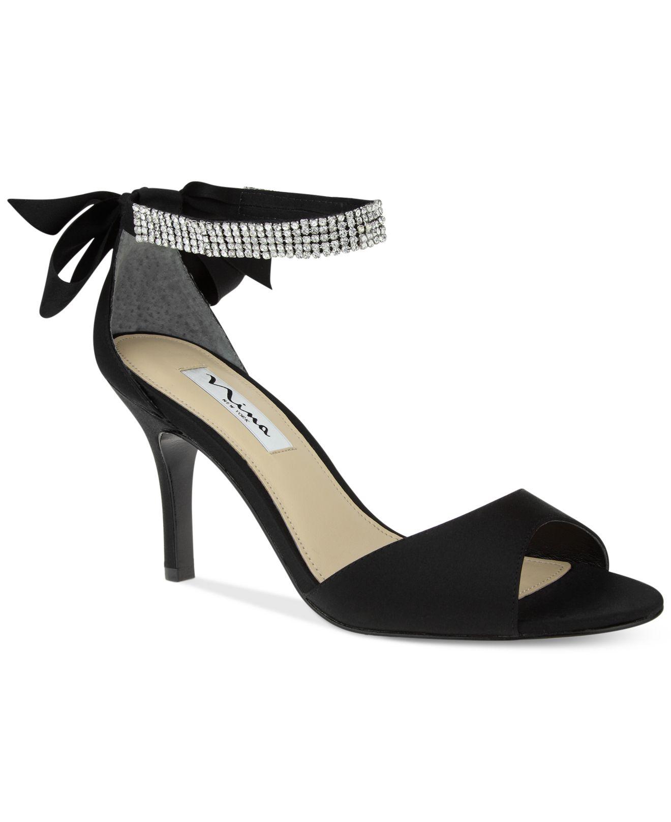 Black sandals evening - Nina