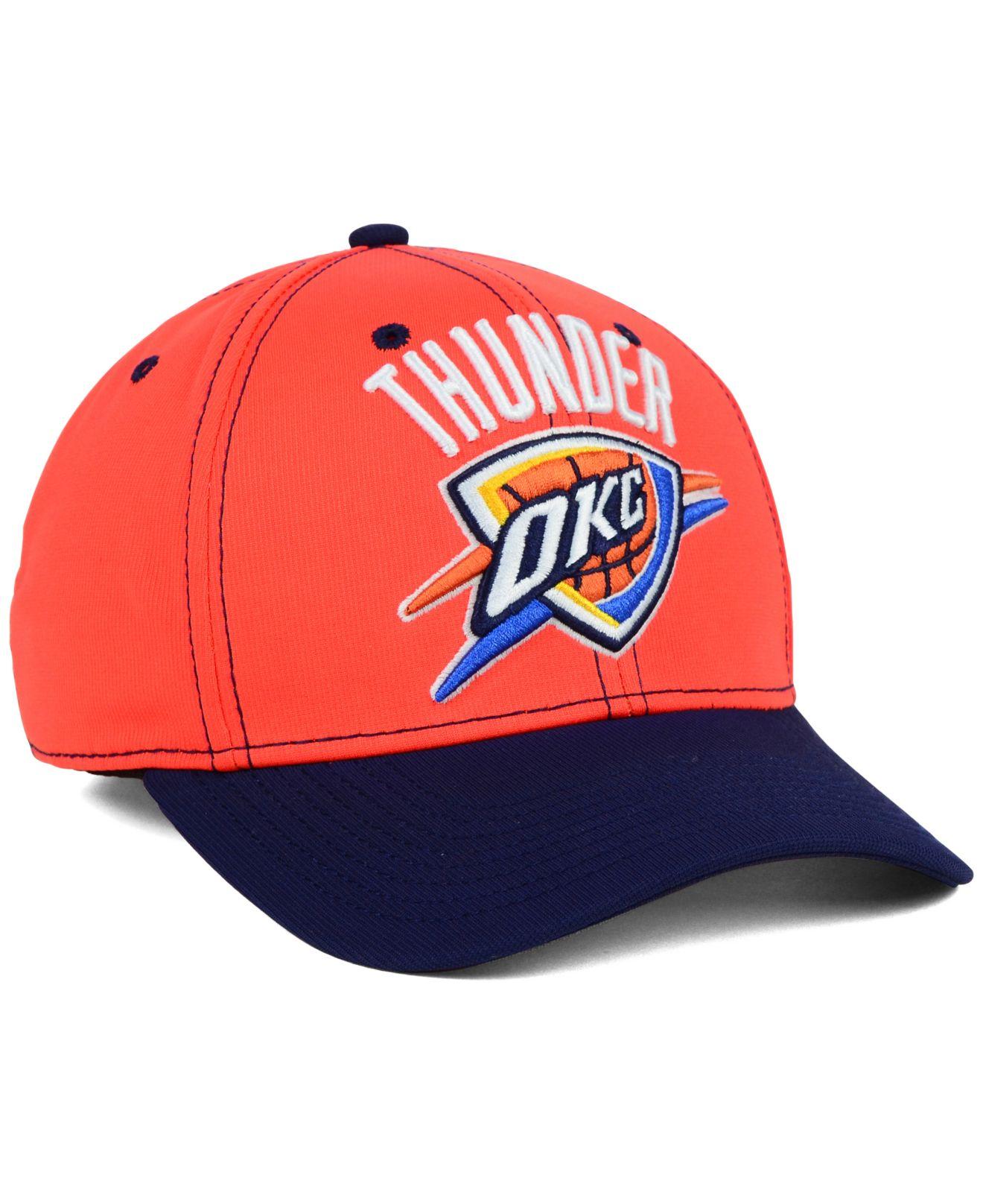 reputable site 6a546 ce6a6 Lyst - adidas Oklahoma City Thunder 2-Tone Flex Cap in Orange for Men