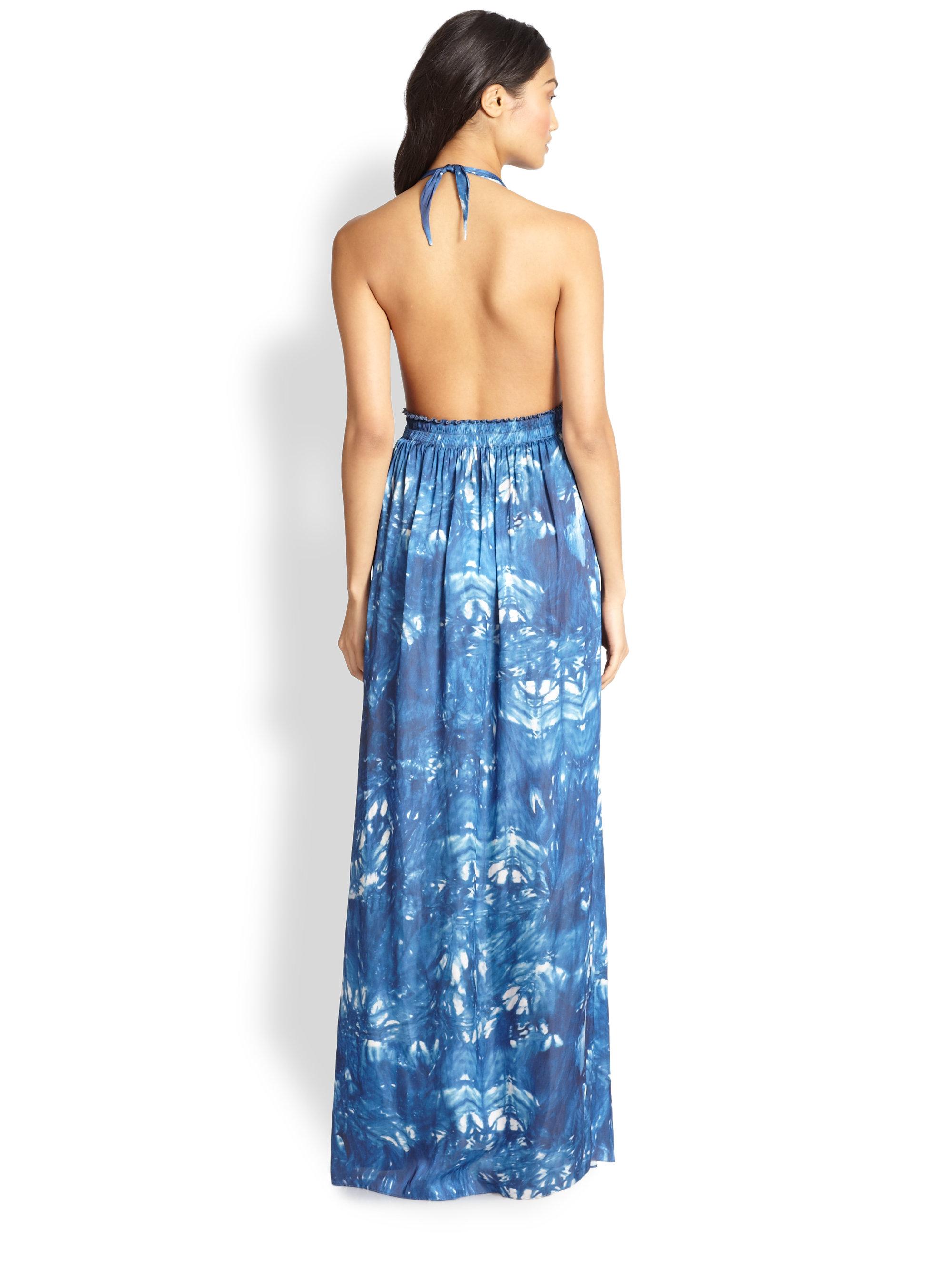Deep v halter maxi dress