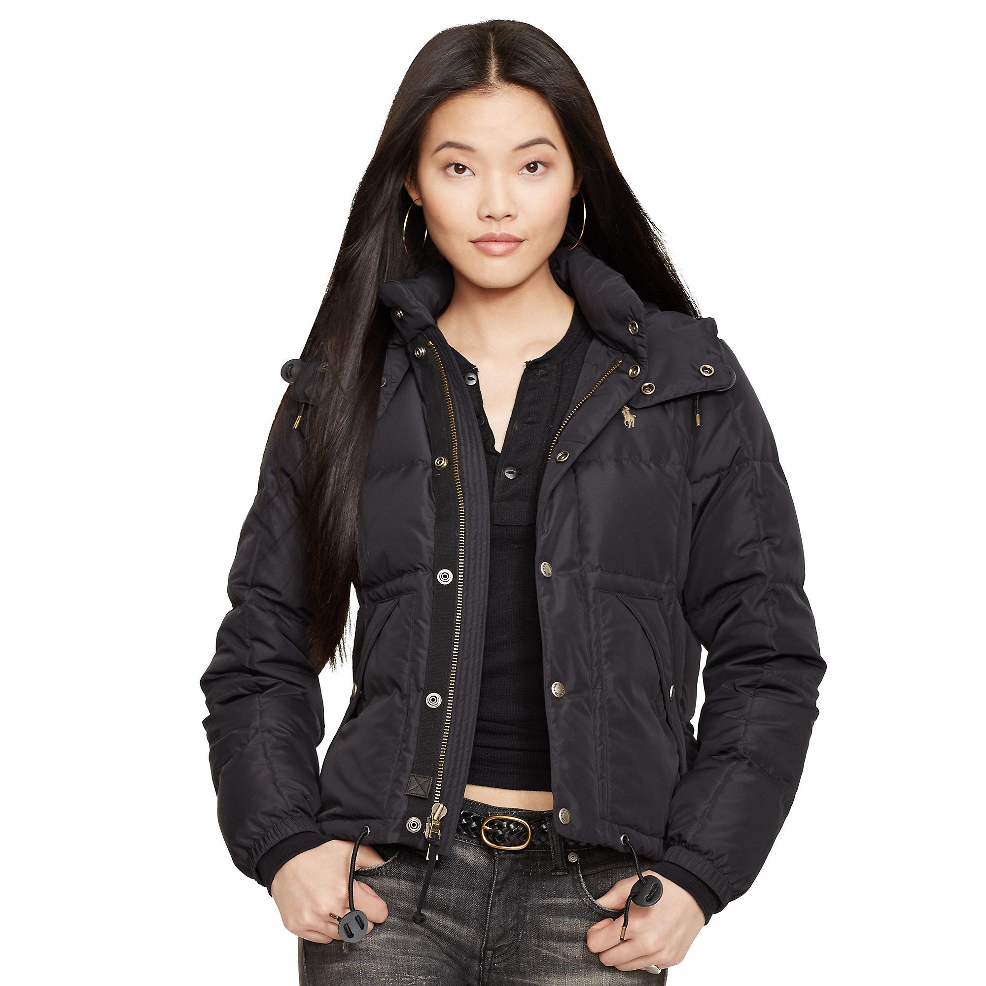 Lyst - Polo Ralph Lauren Hooded Down Jacket In Black
