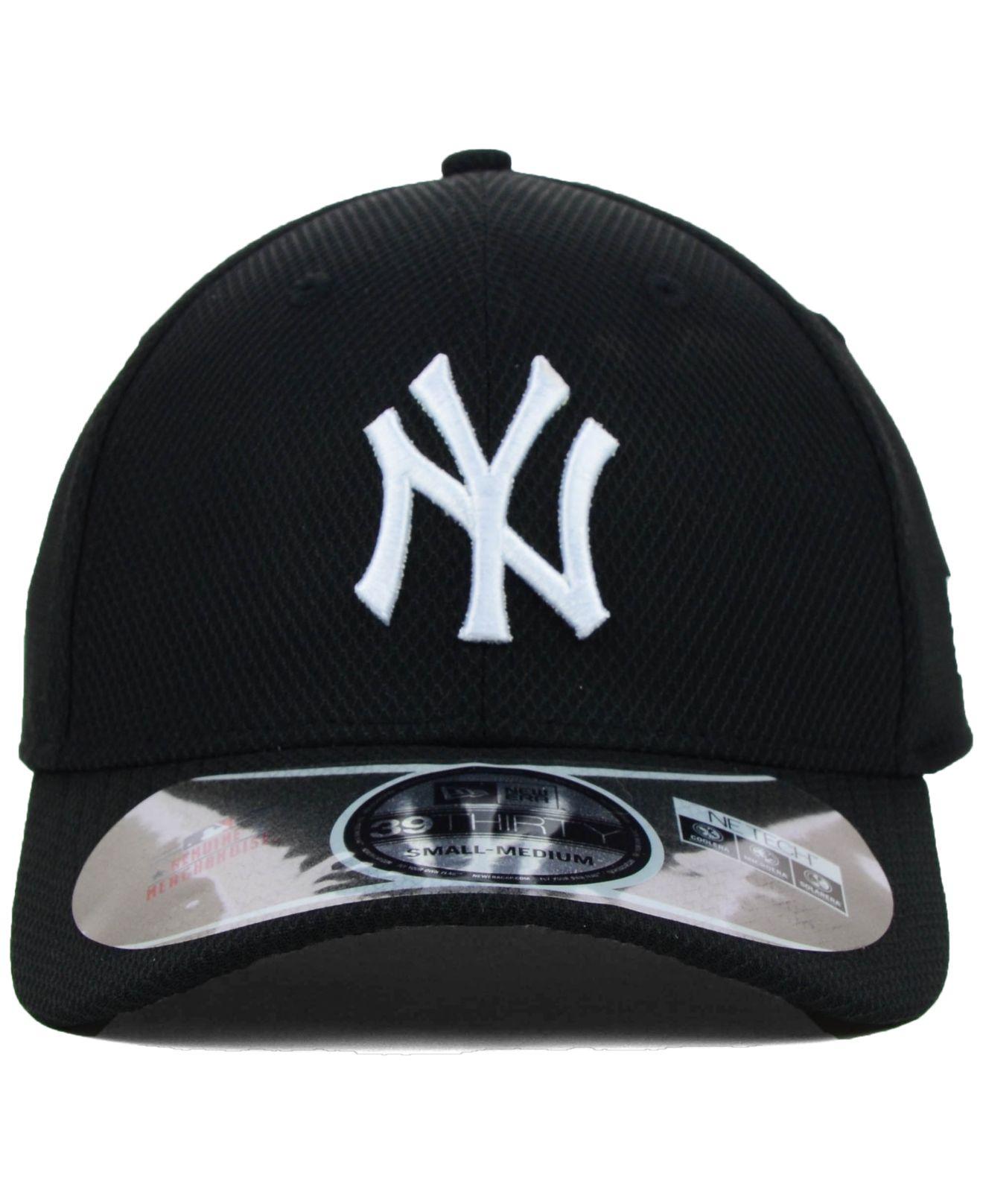 403c18f01adf6e KTZ New York Yankees Mlb Diamond Era Black 39thirty Cap in Black for ...