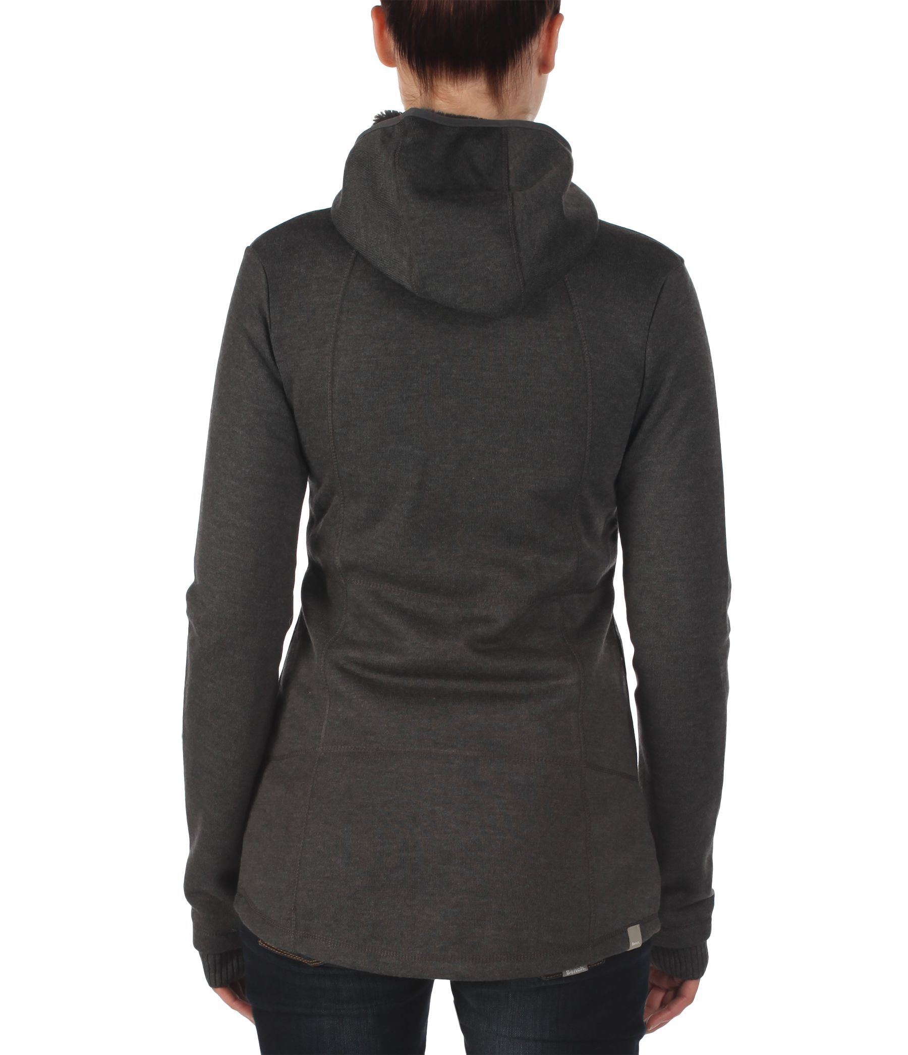 Bench Thinlined Zip Thru Funnel Neck Hoodie In Gray Grey Lyst