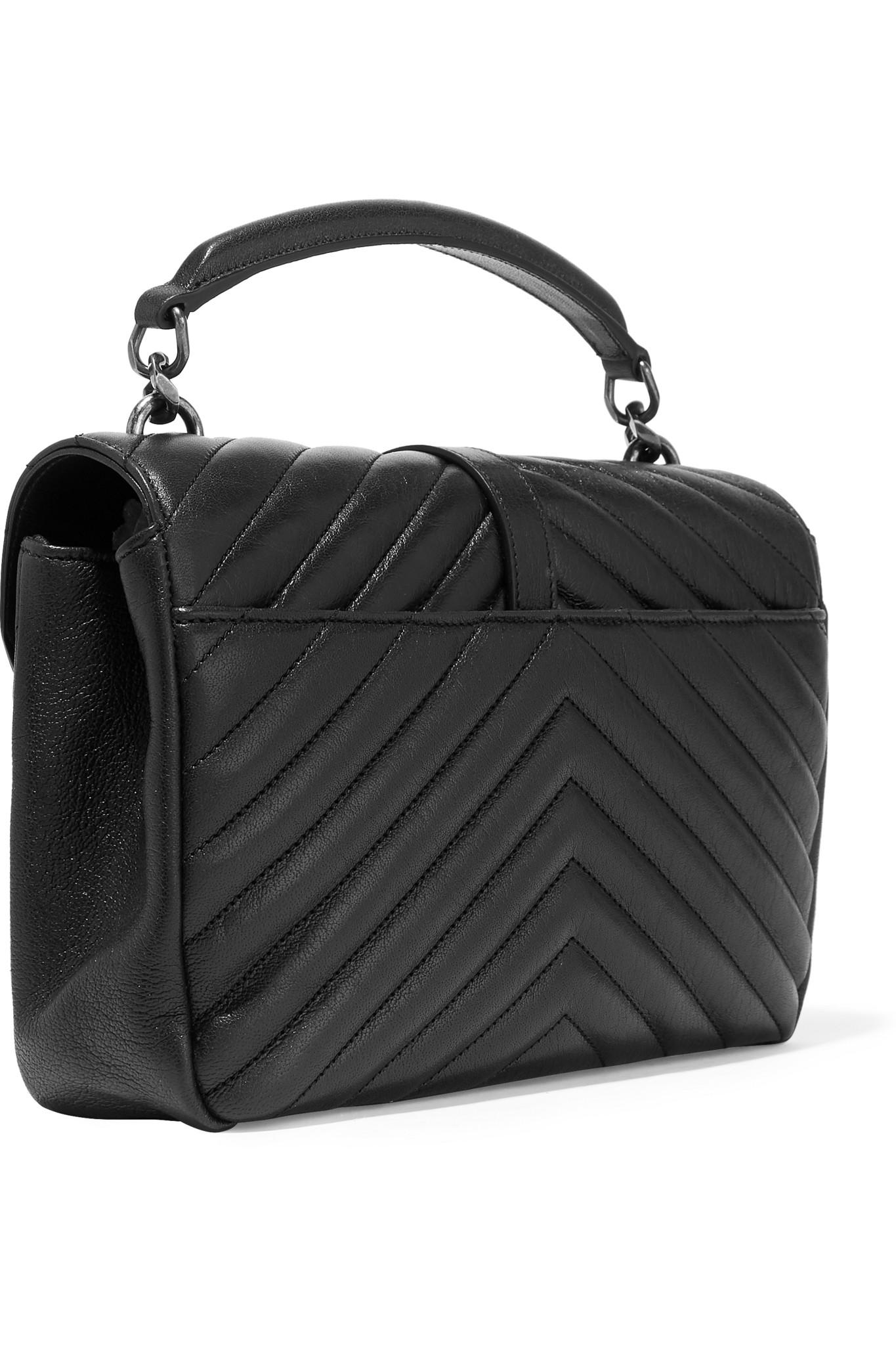 Saint Laurent Monogramme College Medium Quilted Leather