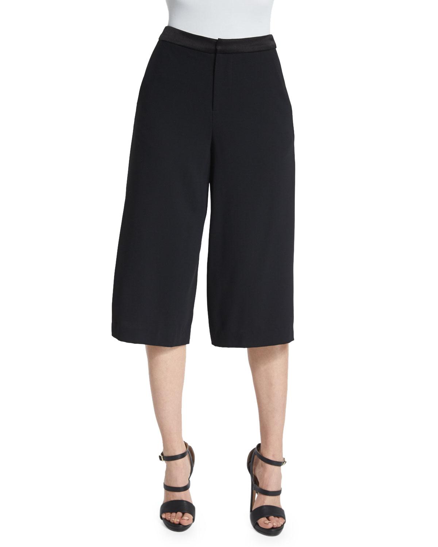 Lyst Alice Olivia Marlena Low Rise Gaucho Pants In Black
