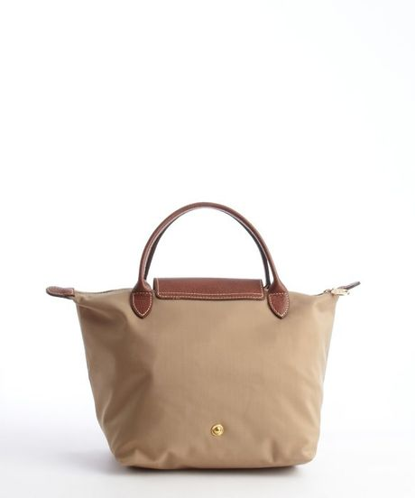 Sac Longchamp Pliage Beige : Longchamp beige nylon le pliage small tote in lyst