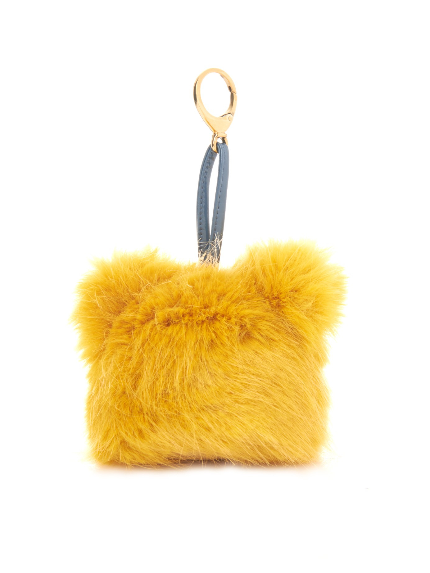 14ba51d1df Shrimps Jerry Mascot Faux-Fur Key Ring in Yellow - Lyst