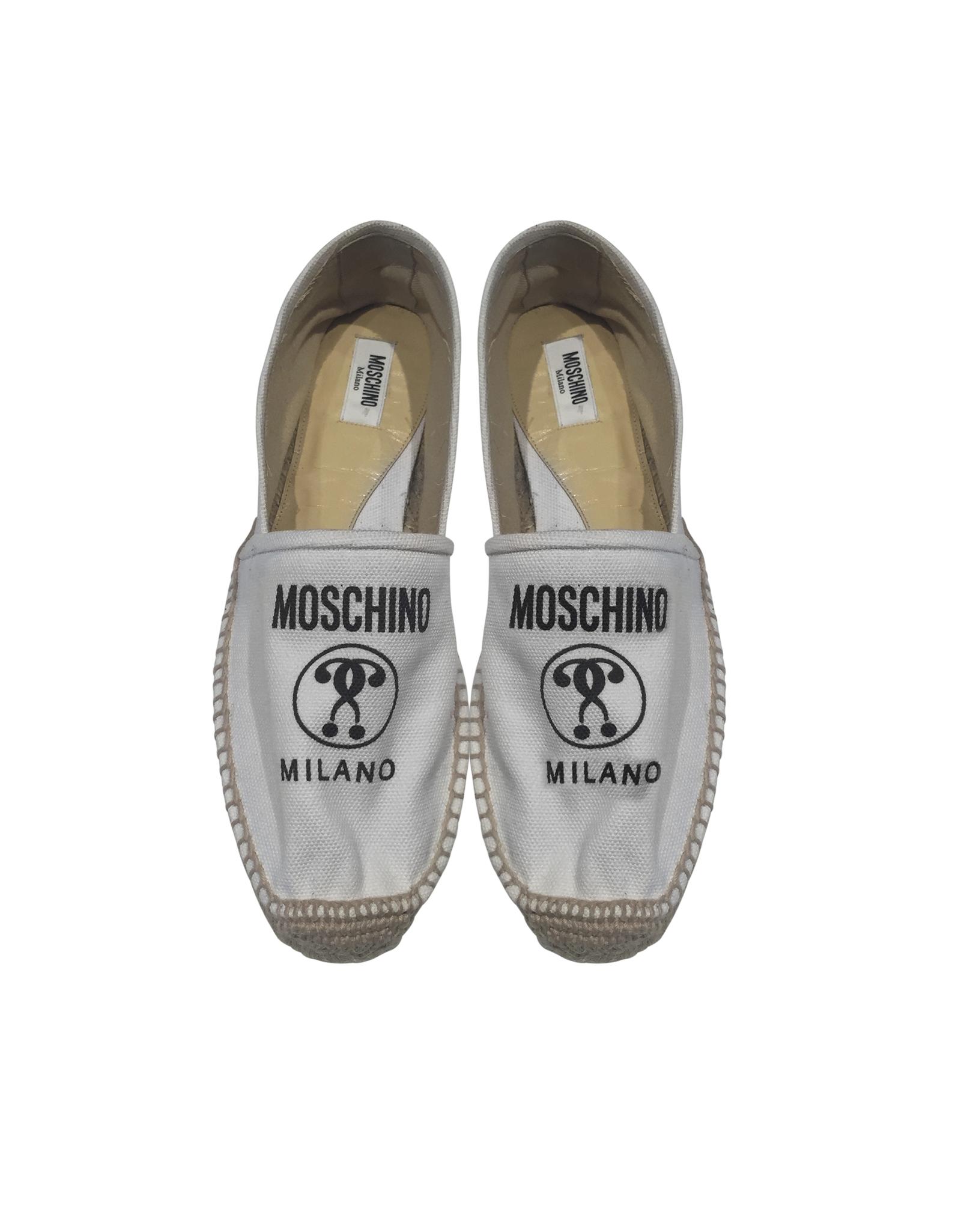 9fbd3735e Moschino White Signature Espadrilles in White - Lyst