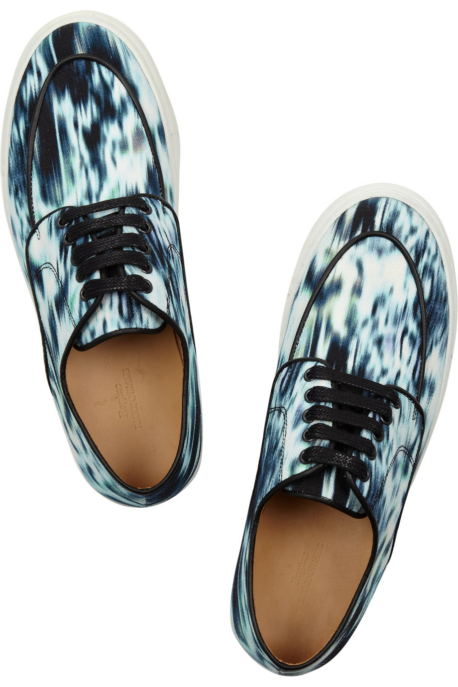 Eugene Riconneaus Inez Printed Canvas Sneakers in Blue