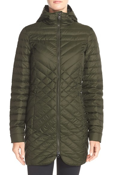 The North Face Karokora Quilted Parka Jacket In Green