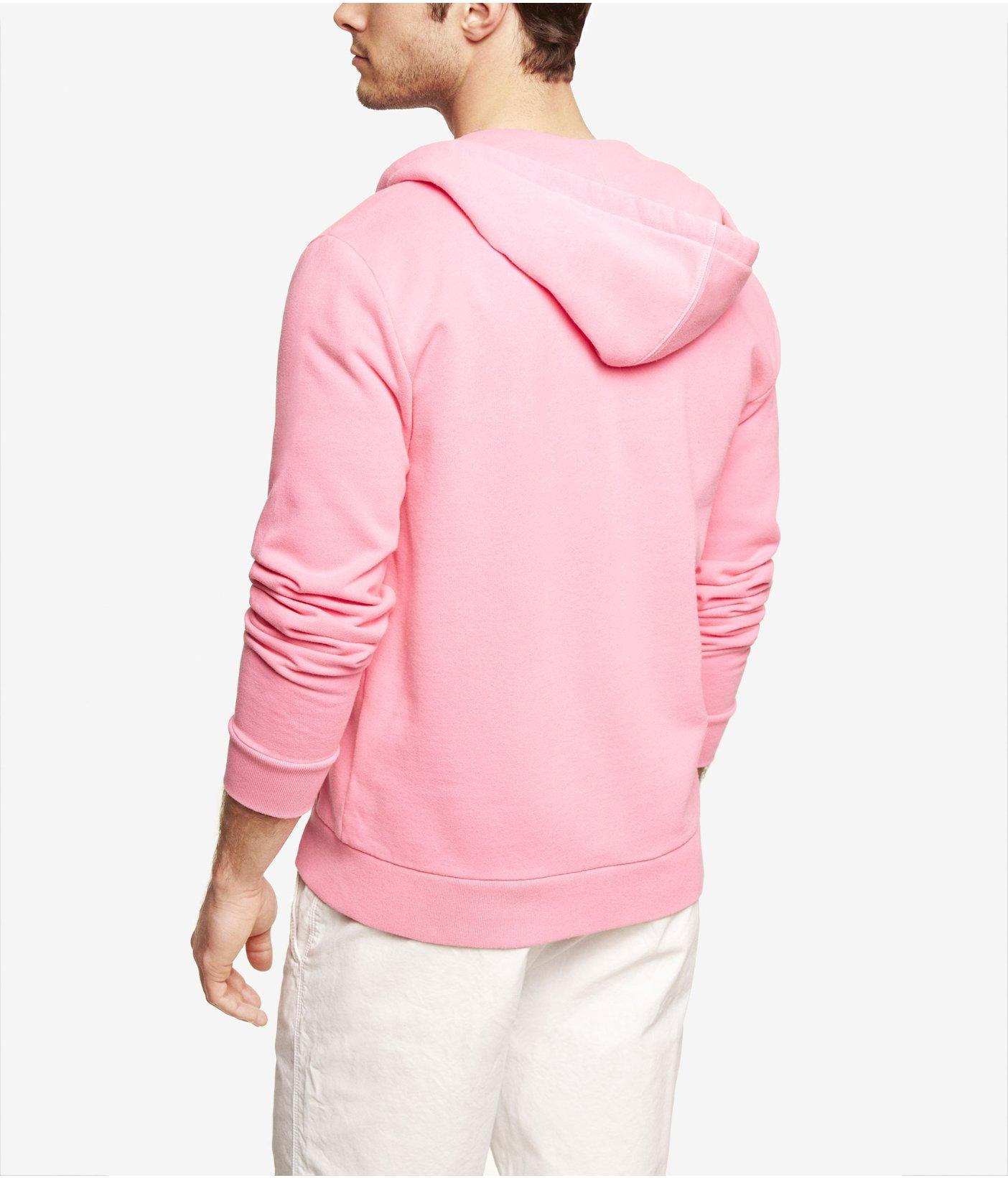 Mens Pink Hooded Sweatshirt | Fashion Ql