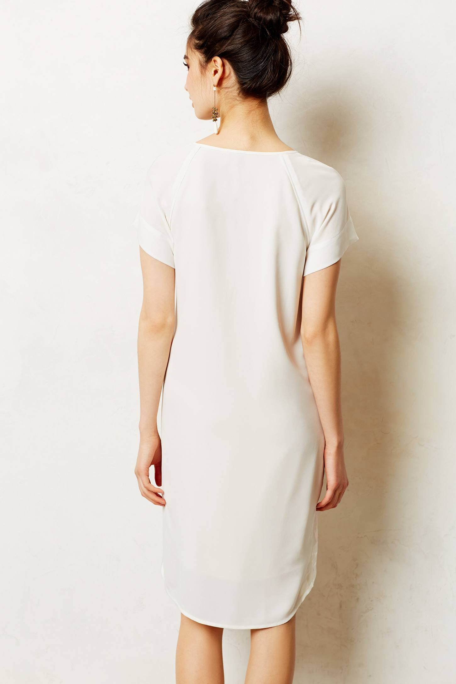 Lyst Keepsake Devore High Low Shift In White