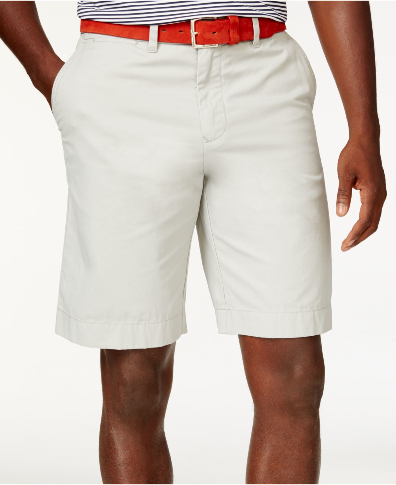 tommy hilfiger classic fit chino shorts in white for men. Black Bedroom Furniture Sets. Home Design Ideas