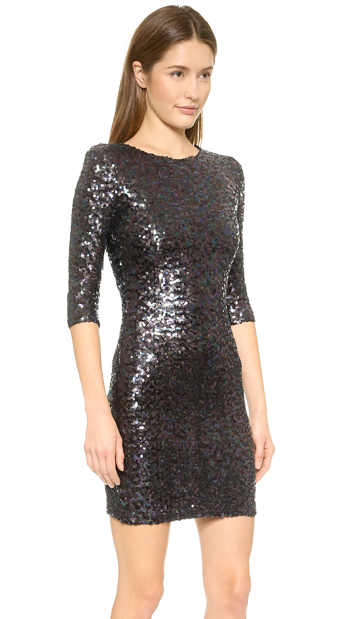 Bb dakota Villette Sequin Dress in Metallic - Lyst