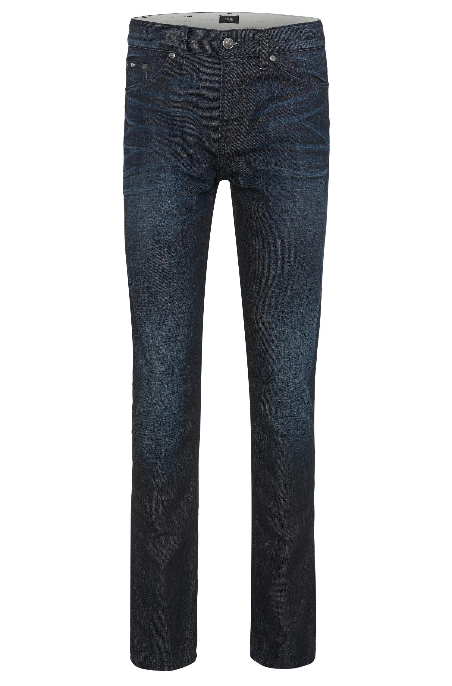 boss 39 delaware 39 slim fit 12 oz cotton jeans in blue for. Black Bedroom Furniture Sets. Home Design Ideas