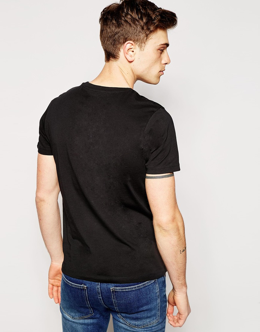 jack jones monochrome t shirt with print in black for. Black Bedroom Furniture Sets. Home Design Ideas