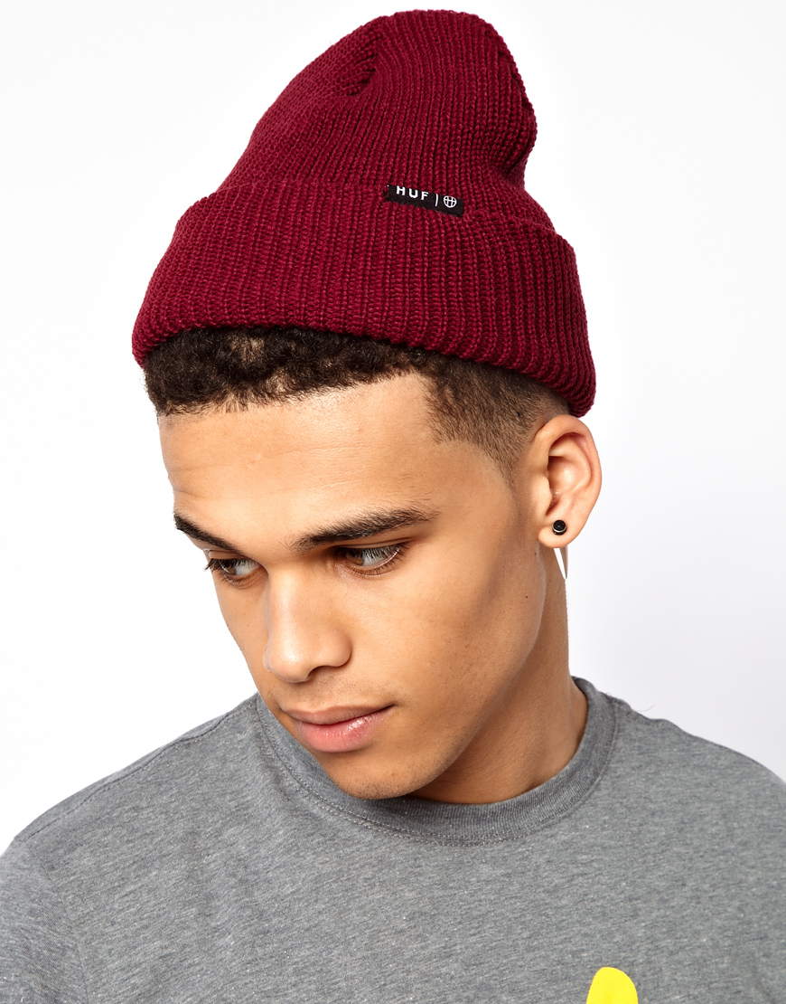 3aca6e95d Huf Red Usual Fisherman Beanie Hat for men