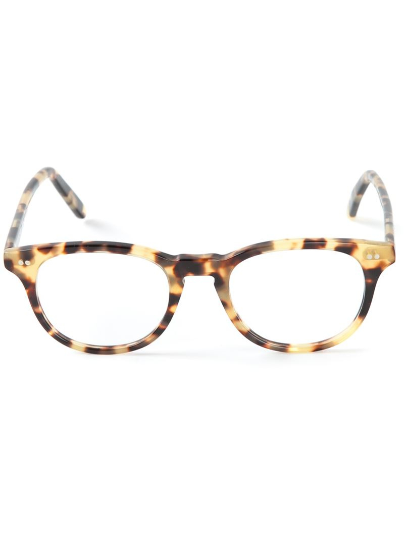 Lyst - Cutler  Gross Round Frame Glasses In Natural-9751