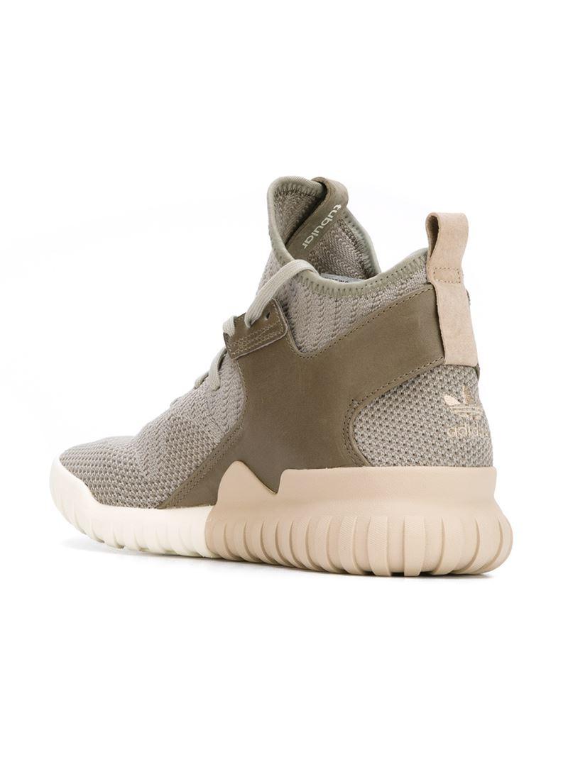Tubular X Knit High-Top Sneakers