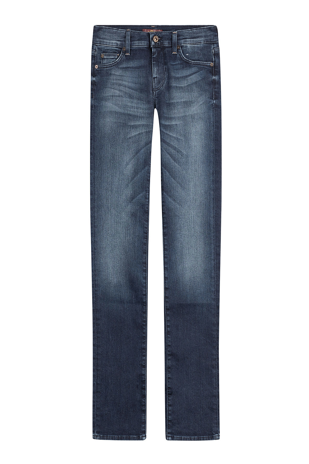 7 for all mankind slim straight leg jeans blue in blue. Black Bedroom Furniture Sets. Home Design Ideas