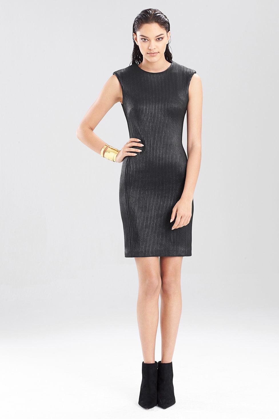 Natori Ottoman Shine Sleeveless Dress in Black
