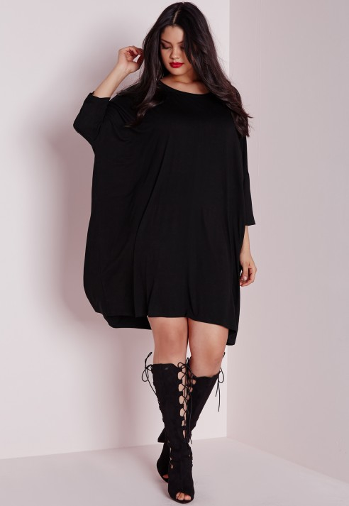 Lyst Missguided Plus Size Oversized T Shirt Dress Black