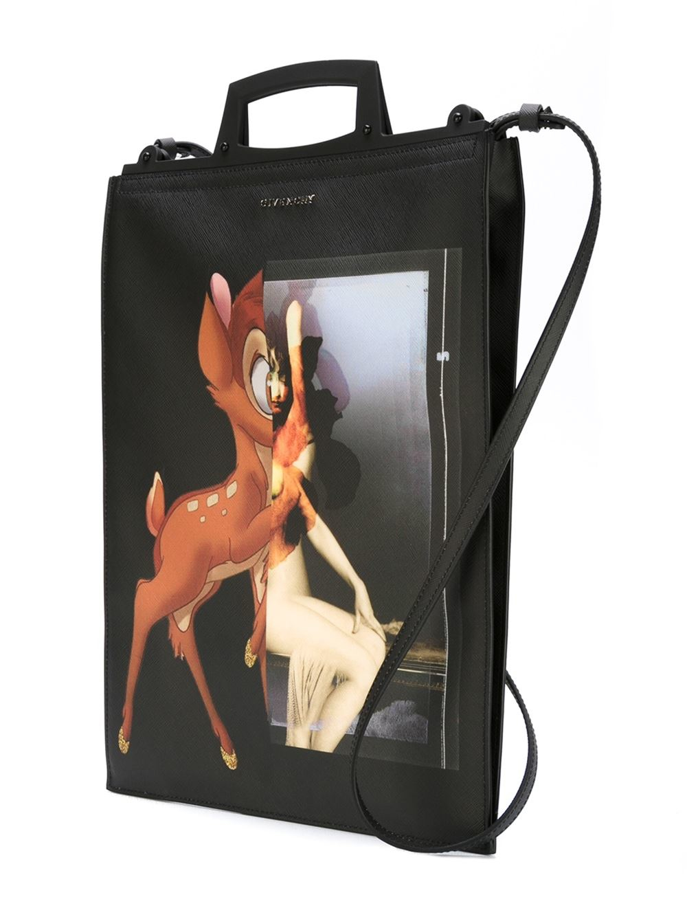 Givenchy Cotton Medium 'rave' Bambi Tote in Black