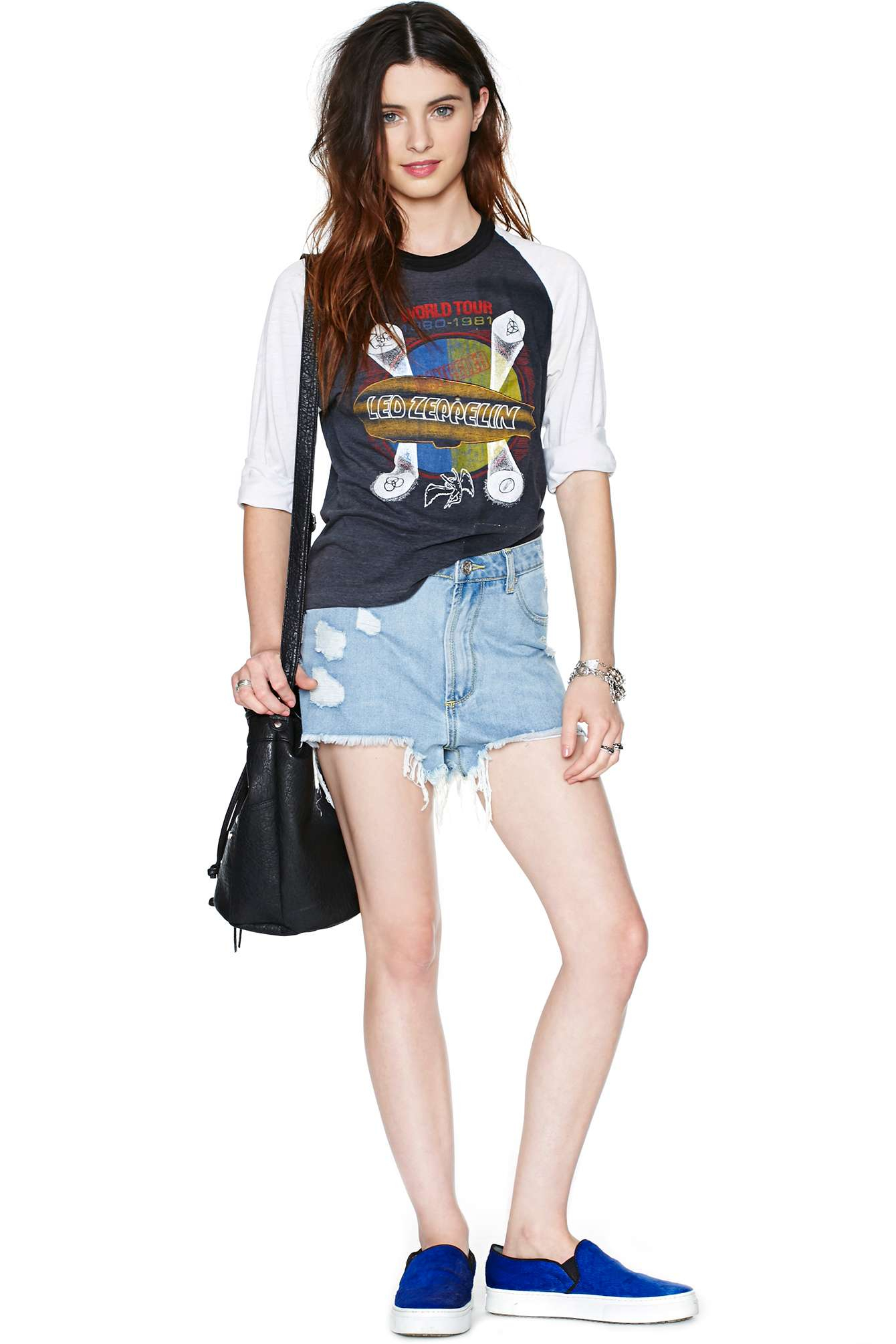 Nasty gal led zeppelin iv world tour tee in black lyst gallery biocorpaavc