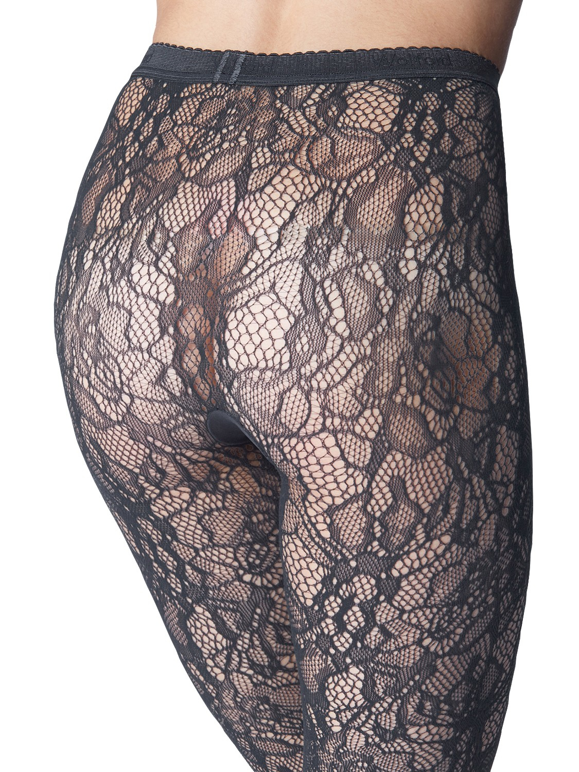 Wolford Clair Fashion Floral Lace Tights in Grey - Lyst