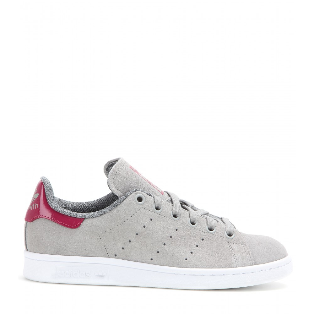 adidas stan smith suede sneakers in gray lyst. Black Bedroom Furniture Sets. Home Design Ideas